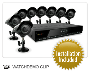 8 channel security camera la